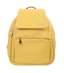 Buy Yellow plain backpacks anniversary-gift online