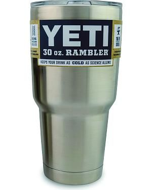 YETI Coolers Rambler 30-ounce Tumbler: Made of kitchen-grade 18/8 stainless steel. Can be used… #CowboyClothing #Westernwear #CowgirlBoots