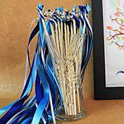Royal Blue Wedding Ribbon Wand--(Set of 10) – USD $ 6.99