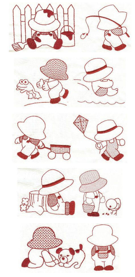 Free Sunbonnet Sue Patterns Downloads | Embroidery designs | free machine embroidery designs | Sunbonnet Sam ...
