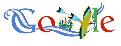 Independencia de El Salvador 2013 Doodleando, Los Logos de Google