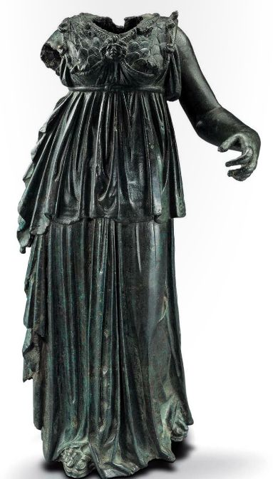 Statue of Athena, Greek late Hellenistic, 1st century B.C. This could be fun to wear!!
