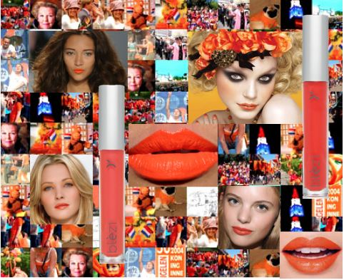 Mooie oranje lippen met Blèzi Lip Fix nr. 50 en 55