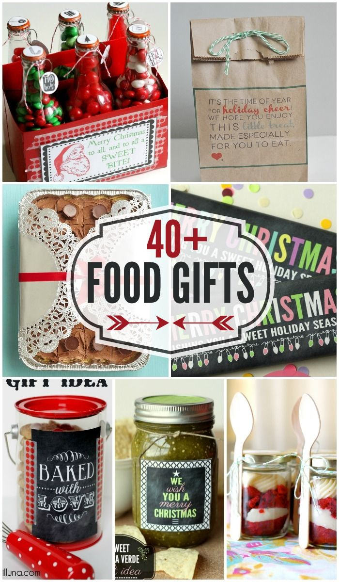 40 + Food Gifts - perfect for holiday neighbor gifts!!