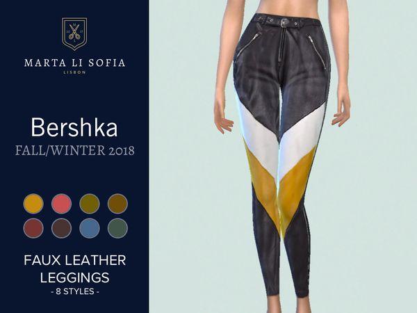 a7f8d19accdb67 martalisofia's Faux leather three toned leggings - City Living needed