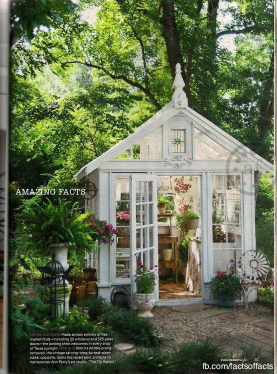 Greenhouse Made From Repurposed Windows Amp Doors Dream
