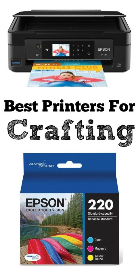 The Best Printers for Crafting! These printers use water resistant and fade resistant inks. So much easier to create crafts when the ink doesn't smear!
