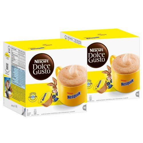 Nescafé Dolce Gusto Nesquik, Pack of 2, 2 x 16 Capsules - http://thecoffeepod.biz/nescafe-dolce-gusto-nesquik-pack-of-2-2-x-16-capsules/