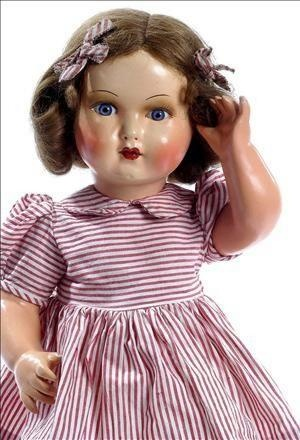 Mariquita Pérez is a Spanish fashion doll thought up by Mrs. Leonor Coello de Portugal in 1938. It was the most famous doll of the forties and fifties in Spain, and was produced until 1976.  They have been made of papier mache, plastic, vinyl, and china.  A new model is being sold today in Spain.