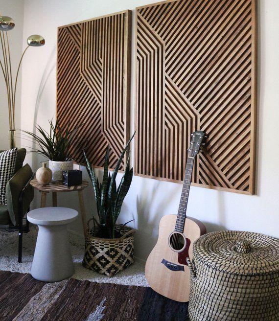Holz #Kunst #Holz #Wand #Kunst #Geometrisch #Holz
