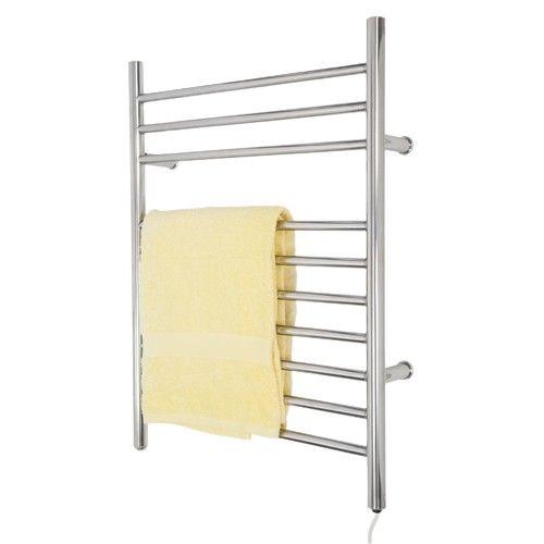 "24"" Contemporary Wall Mount Plug-In Electric Towel Warmer - Towel Warmers - Bathroom"