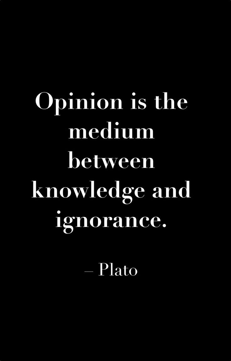 Yes. I completely agree. Opinion is a spectrum from fool to wise, in other words.