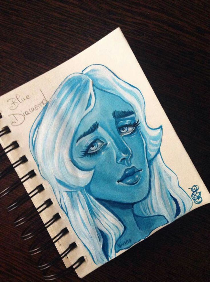 Blue Diamond  Realistic Painting Portrait  Study portrait 2018