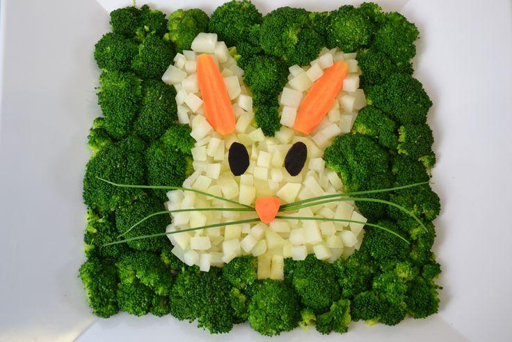 Leckere Oster-Gemüseplatte