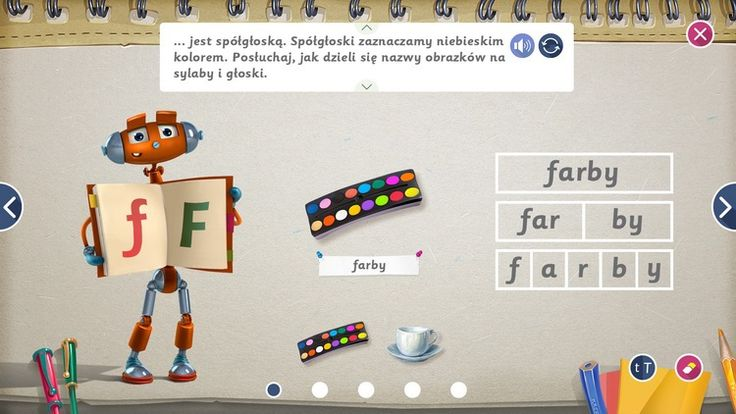 Interactive web textbook for primary schools in Poland.