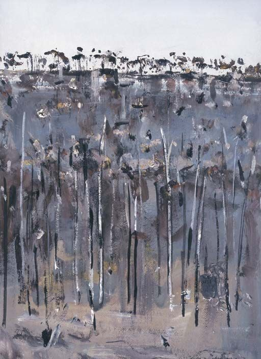 Fred Williams, Charred Wooded Hillside. Watercolour and gouache.