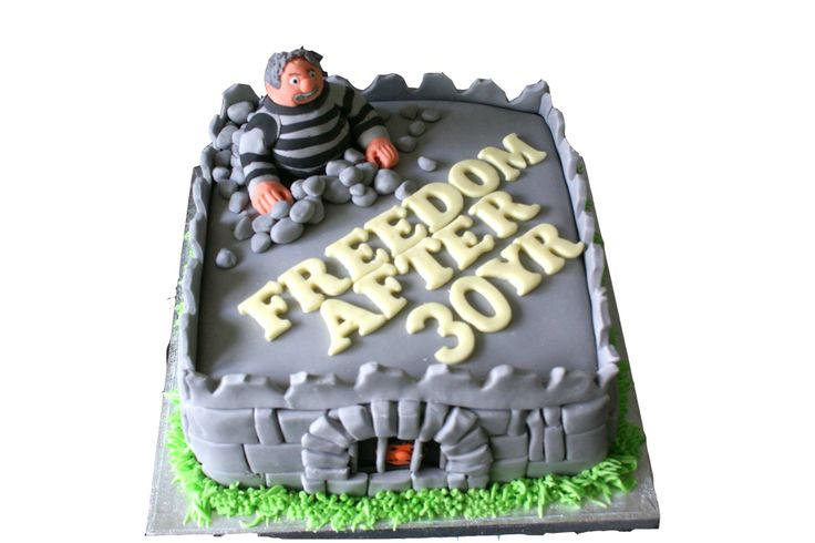 'Prison Officer Retirement Cake'