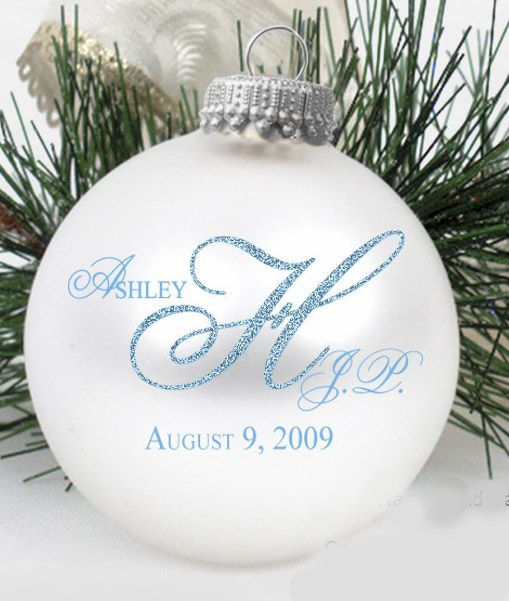 Personalized Ornament Wedding Favors Christmas Ornaments Make Fantastic For Weddings Christenings A