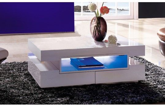 Table basse design lumineuse enza table basse design pinterest tables - Table basse multicolore ...