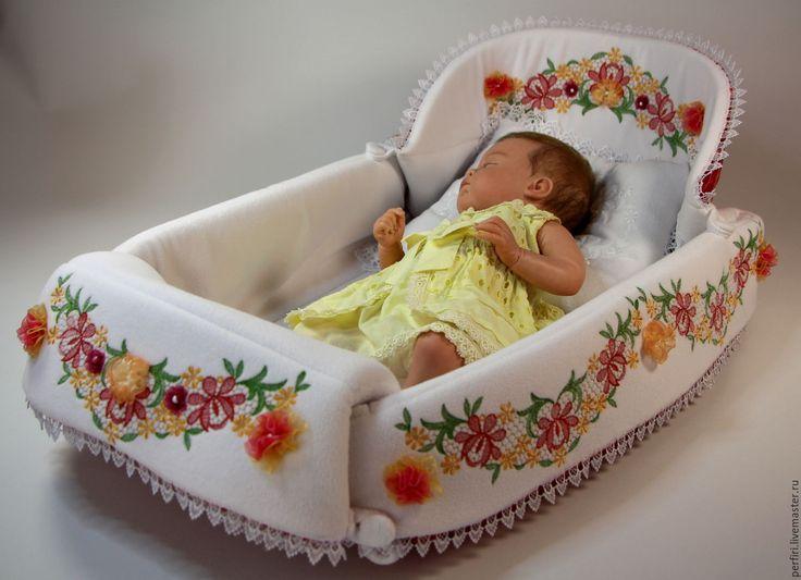 Купить Люлька - коврик. - люлька для куклы реборн, люлька, кроватка для куклы, ручная авторская работа