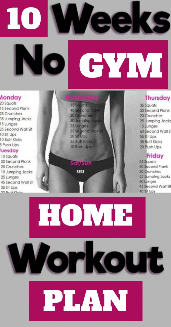 10 Weeks Home Challenging Workout Plan. Consider d…