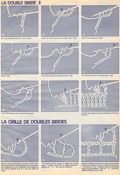points de crochet a imprimer | Pour celles que ça interresse. Une base pour crochet.