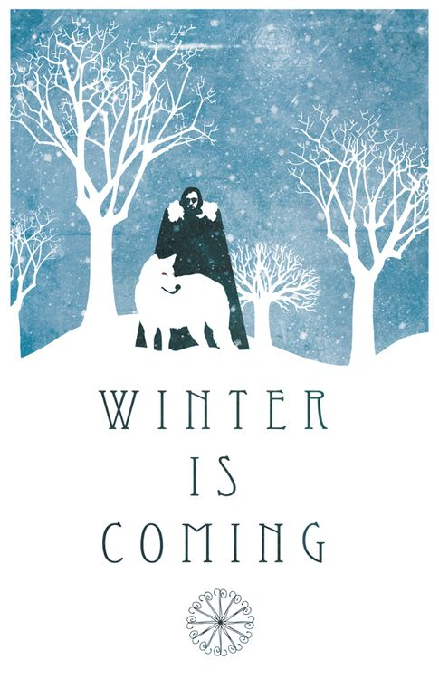 Jon Snow and Ghost: Winter is Coming