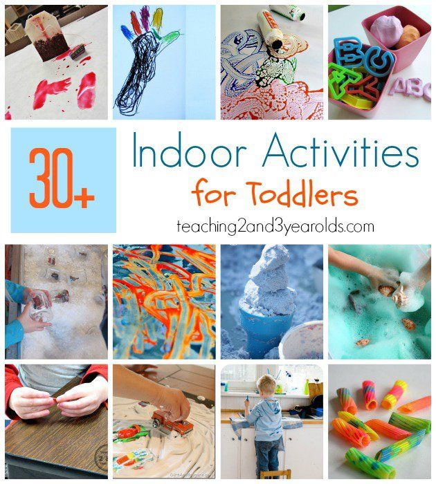 Do you have an energetic 2 year old and are stuck inside? Here are 30+ indoor activities for toddlers that are super easy to set up!