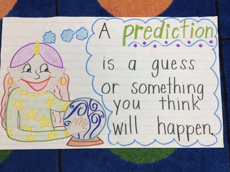 Predictions Anchor Chart Kindergarten Great For Kids
