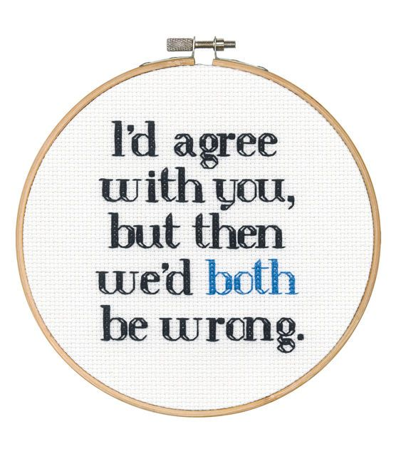 Say It! in cross stitch-Both Wrong