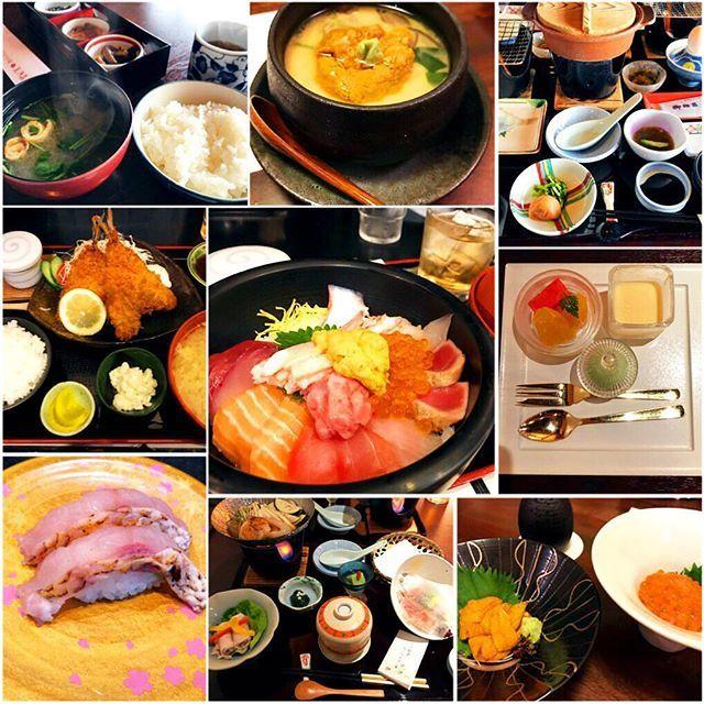 #delicious #😋#🍣#🍴 #japanesefoods #sushi #和 #和食 #海鮮丼 #寿司 #のどぐろ握り #うにいくら #茶碗蒸し #アジフライ定食 #朝食 #夕食 #最近海鮮ばっかり食べてる #肉<#魚 #海の幸🐟