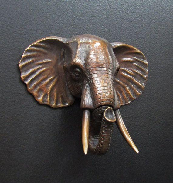17 best ideas about elephant head on pinterest elephant head drawing elephant head tattoo and - Elephant door knocker ...