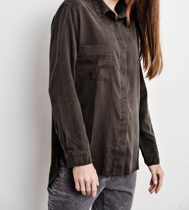 classic khaki shirt 100% tencel bynamesakke