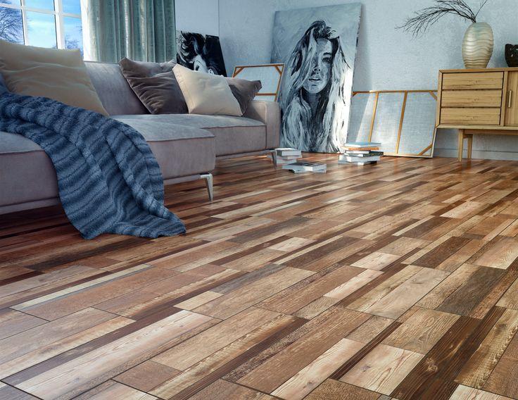 Los tablones cerámicos le darán a tu hogar una vista espectacular, sin las complicaciones de la madera. Como este increíble piso Legno.