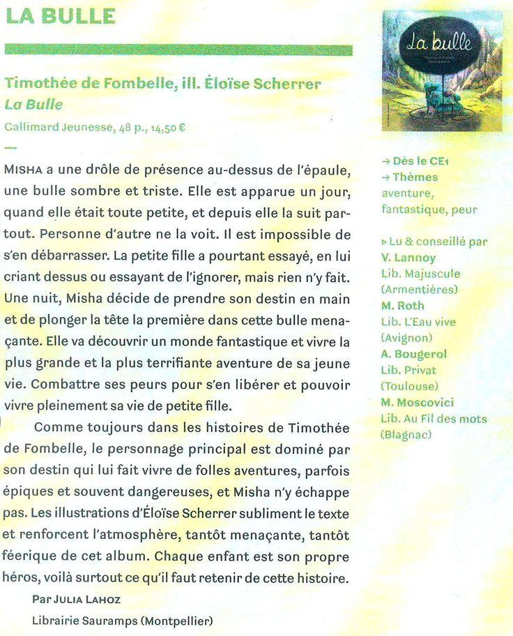 La bulle Thimothée de Fombelle et Elodie Sherrer Page n°174