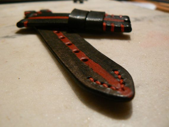 Red Apple Watch Band Leather Watch Band Handmade by GORIANI