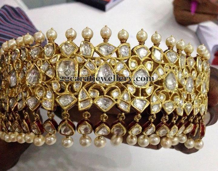 Jewellery Designs: Collar Choker by Neetu Jewellers