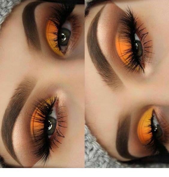Light orange makeup – blue eyes | Inspiring Ladies