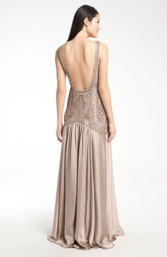 Sue Wong Backless Embellished Bodice Satin Gown | eBay