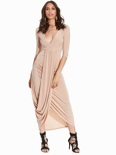 Drape Front Detail Dress
