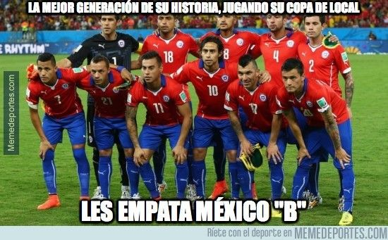 Los mejores memes del empate Chile 3-3 México (Copa América 2015) - Oye Juanjo!