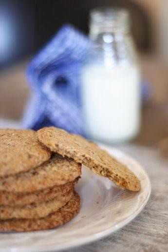 Овсяное печенье - хрустящее, с орехами, быстро, не надо раскатывать тесто