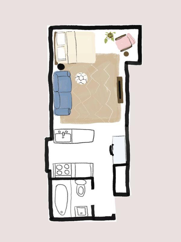 The 25+ Best Studio Apartment Floor Plans Ideas On Pinterest | Small Apartment  Plans, Apartment Layout And Studio Apartment Layout