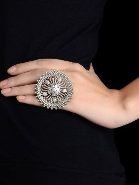 Ethno Silver Ring (Ring Size - 7.5)
