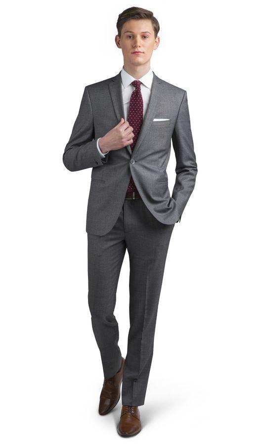 Phoenix Plain Charcoal Skinny Fit Suit,