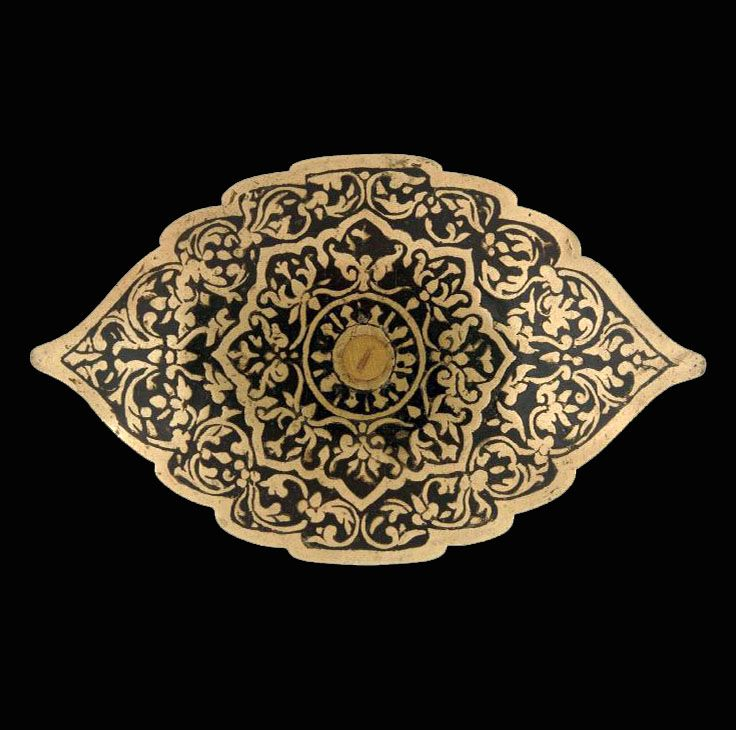 Indonesia ~ Sumatra, Minangkabau | Copper plated belt buckle | ca. 1986