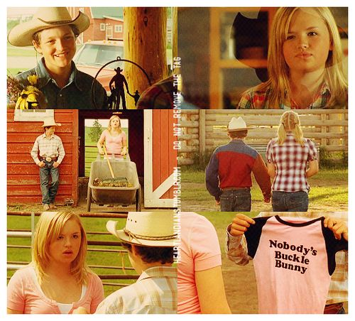 "Mallory and Jake in Heartland - 2x06 - Holding Fast  ""If you think for one moment I'm going to be your buckle bunny, think again."""
