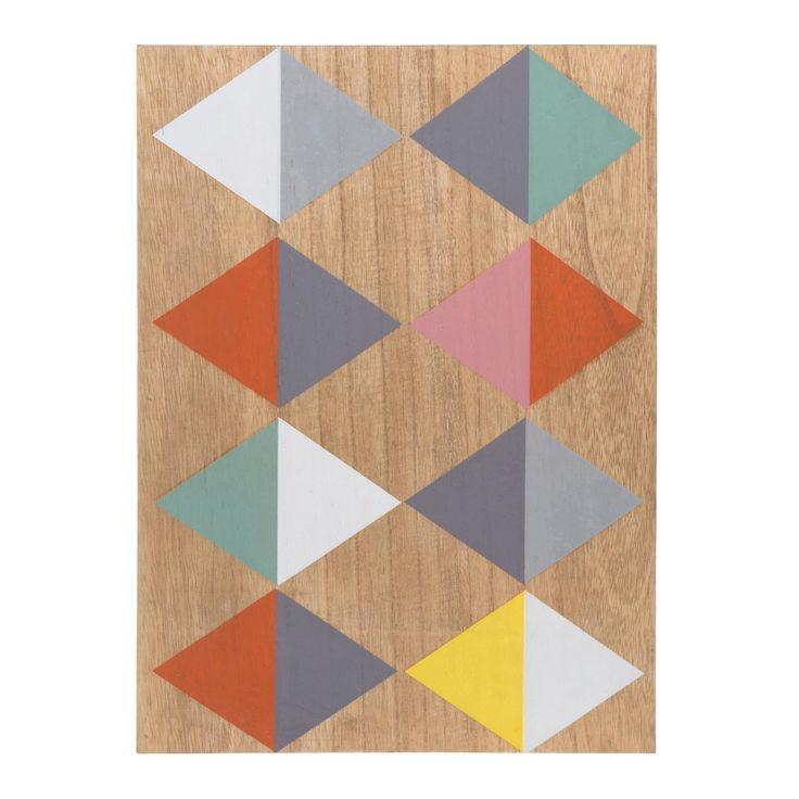 Les 41 meilleures images propos de decoration murale sur for Tableau geometrique pastel