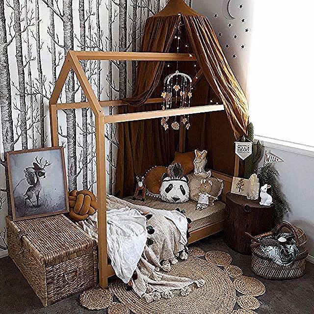 Babyzimmer Holz Und Ocker Babyzimmer Holz Ocker Und Kinder Zimmer Kinderzimmer Ideen Kid Chic Bedroom Design Guest Bedroom Design Bedroom Decor Cozy
