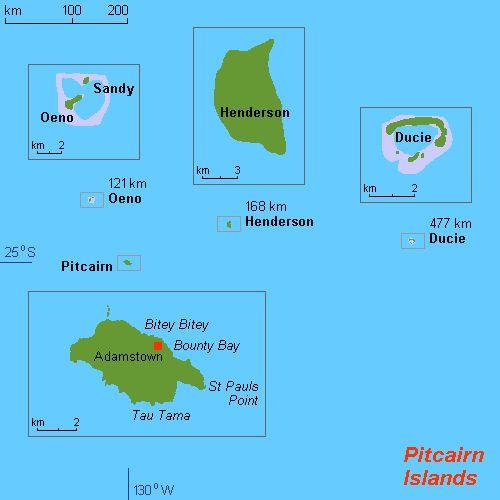 Map of Pitcairn Islands ◆Pitcairn Islands - Wikipedia http://en.wikipedia.org/wiki/Pitcairn_Islands #Pitcairn_Islands